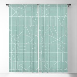 My Favorite Geometric Patterns No.7 - Light Blue Blackout Curtain