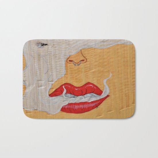 Puff, Smoking Lady Series Bath Mat