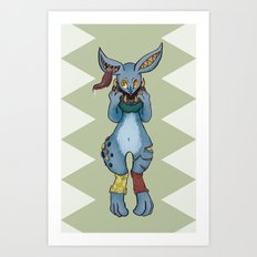 Bunnies have a Bite too Art Print