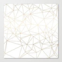Geometric Gold Minimalist Design Canvas Print