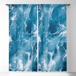 Aerial view on ocean floor turquoise waves, water surface texture Blackout Curtain