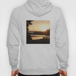 Sunset over Bowness Calgary Hoody