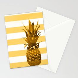 Pineapple with yellow stripes - summer feeling Stationery Cards