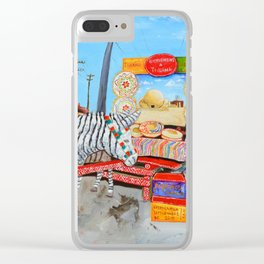 Tijuaino-Vizjuaino by Juan Manuel Rocha Kinkin Clear iPhone Case