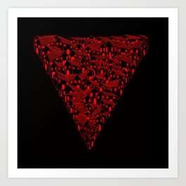 Huesca in red and black Art Print