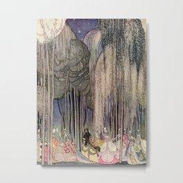 Kay Nielsen Of The Twelve Dancing Princesses From In Powder And Crinoline Metal Print