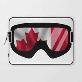 Canadian Goggles | Goggle Art Design | DopeyArt Laptop Sleeve