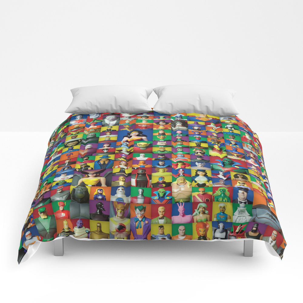 Action Figure Grid: Justice League Unlimited Comforter by Cantinadanny CMF3575049