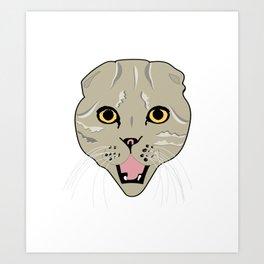 Random Cat Art Print
