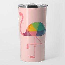 Rainbow Flamingo Travel Mug