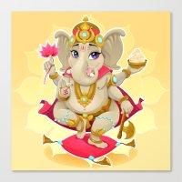 ganesh Canvas Prints featuring Ganesh by Danilo Sanino