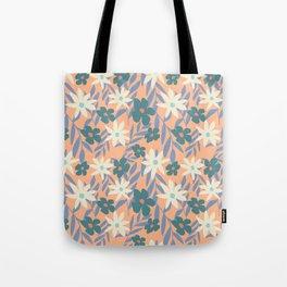 Just Peachy Floral Tote Bag