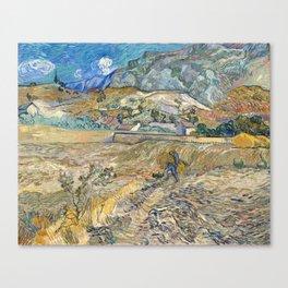 Landscape at Saint-Rémy by Vincent van Gogh Canvas Print
