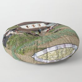 EDGE OF TOWN POKHARA NEIGHBORHOOD NEPAL Floor Pillow