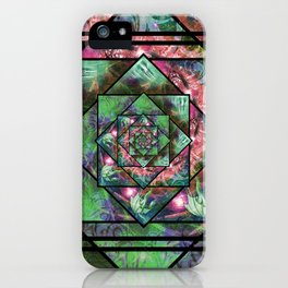 Enchanted Portal Lime Rose iPhone Case