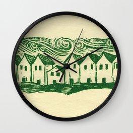 Sad Row Wall Clock