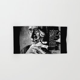 Charles Bukowski - black - quote Hand & Bath Towel