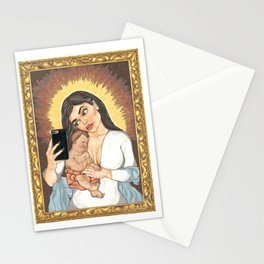 Kylie Con Il Bambino Stationery Cards