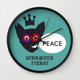 schraegerfuerst, PEACE Wall Clock