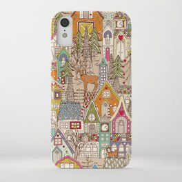 vintage gingerbread town iPhone Case