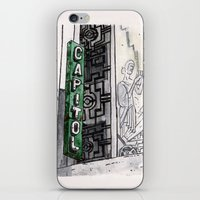 philippines iPhone & iPod Skins featuring Philippines : Capitol Theater by Ryan Sumo