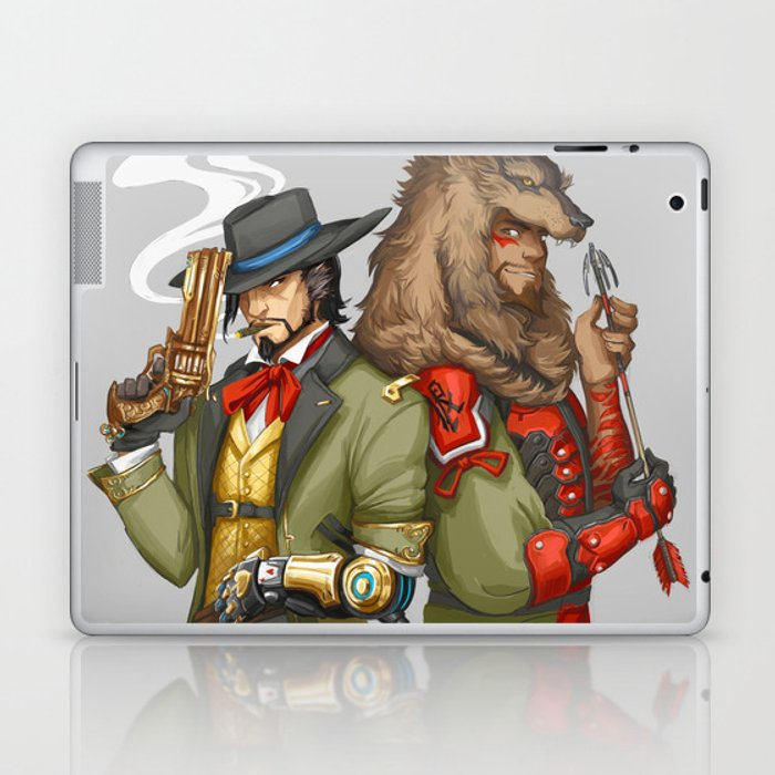 outfit swap laptop ipad skin by kingsdarga society6