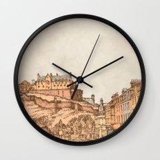Tea in Edinburgh Wall Clock