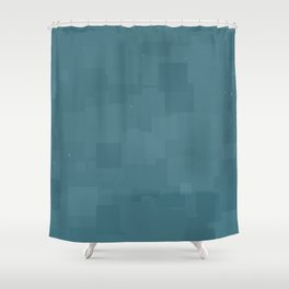 Hydro Square Pixel Color Accent Shower Curtain