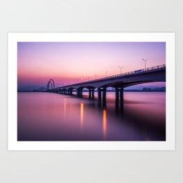 Bridge Over a River Art Print