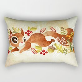Playful Squirrel Rectangular Pillow