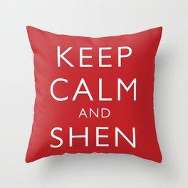 Keep Calm and Shen Long Throw Pillow