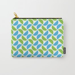 HALF-CIRCLES, GREEN AND BLUE Carry-All Pouch