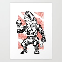 365 Space Wrestlers: Harry Hamachi Art Print