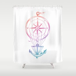 Going Places Shower Curtain