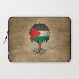 Vintage Tree of Life with Flag of Palestine Laptop Sleeve