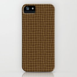 Cheesecloth - Chocolate-Yellow iPhone Case