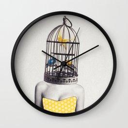 Bird Brained Babe Wall Clock