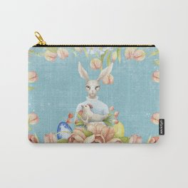 Beautiful Floral Flowers Female Animal Easter Bunny Carry-All Pouch