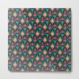 Suzani Ogee Pattern Metal Print
