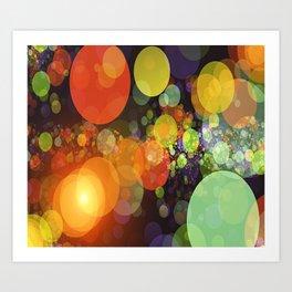 Colorful Light Art Print