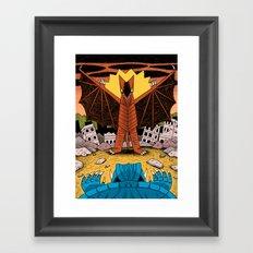 Kaiju Battle! Framed Art Print