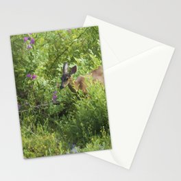 Young Doe Among The Flora painterly Stationery Cards