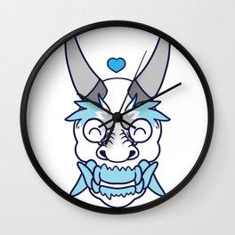 DEMI BOY PRIDE Oni Wall Clock