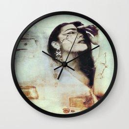 """turbulent thoughts"" Wall Clock"