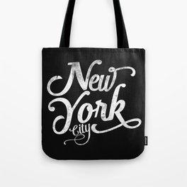 New York City vintage typography Tote Bag