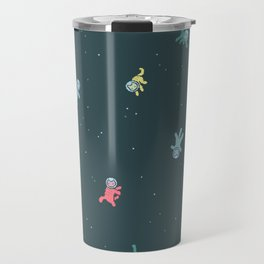 Space Cats! tiling pattern Travel Mug