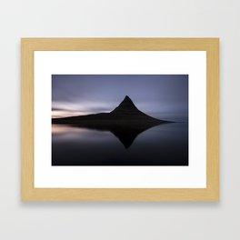 Iceland, Kirkjufell reflection 2 Framed Art Print