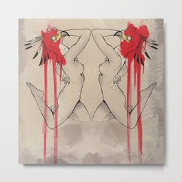 secretary birds. Metal Print