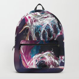Psychedelic psy·che·del·ic Skull Backpack