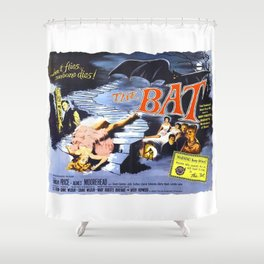 The Bat, vintage horror movie poster Shower Curtain